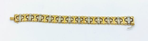 750 white and yellow gold link bracelet