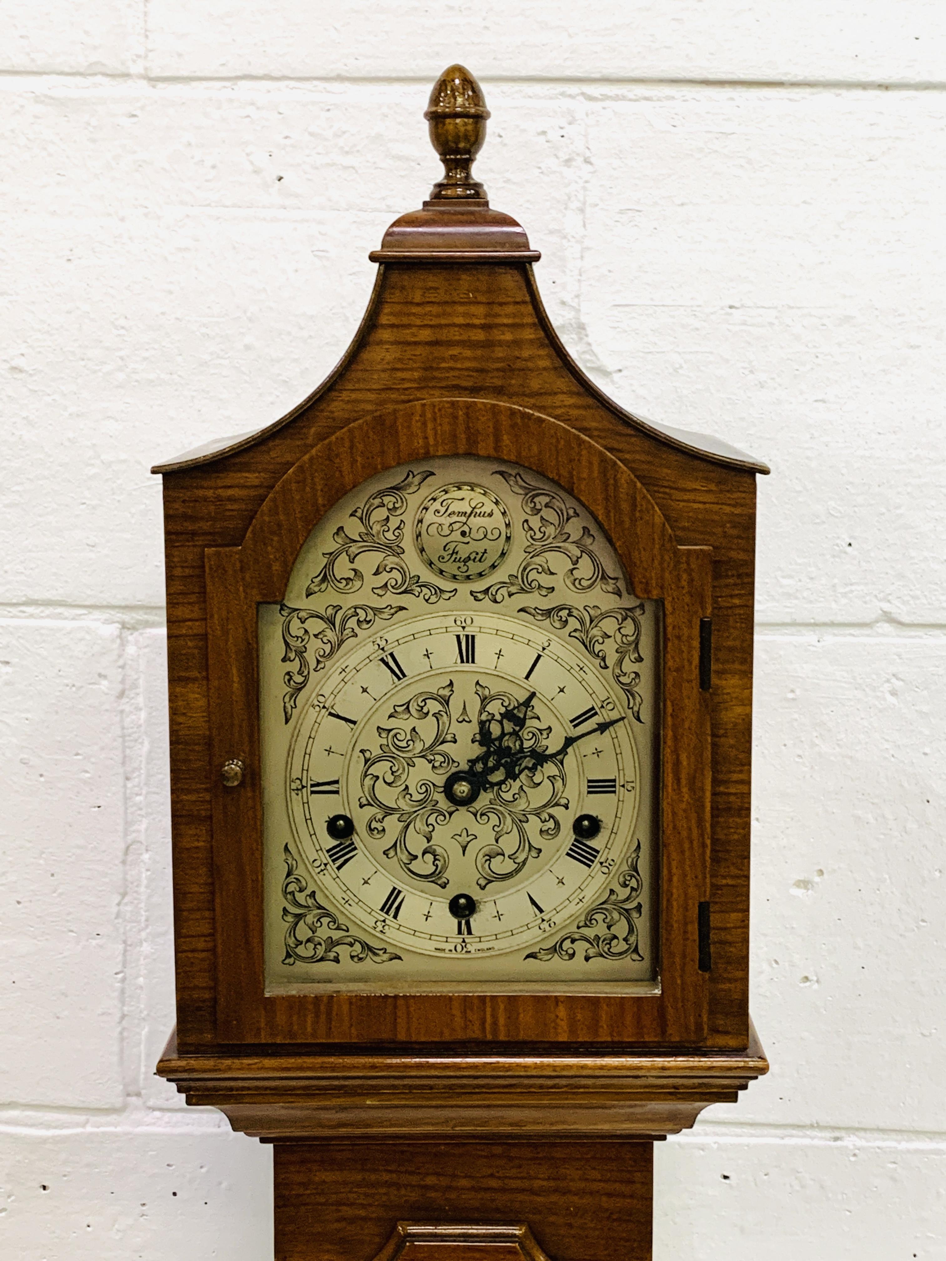 Mahogany veneer cased Grandmother clock - Image 2 of 5