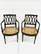 Two Regency style elbow chairs