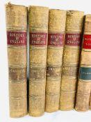 Smollett's The History of England, 1841; Hallam's Literary History; and five Waverley Novels