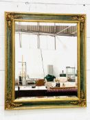 Gilt and painted frame wall mirror