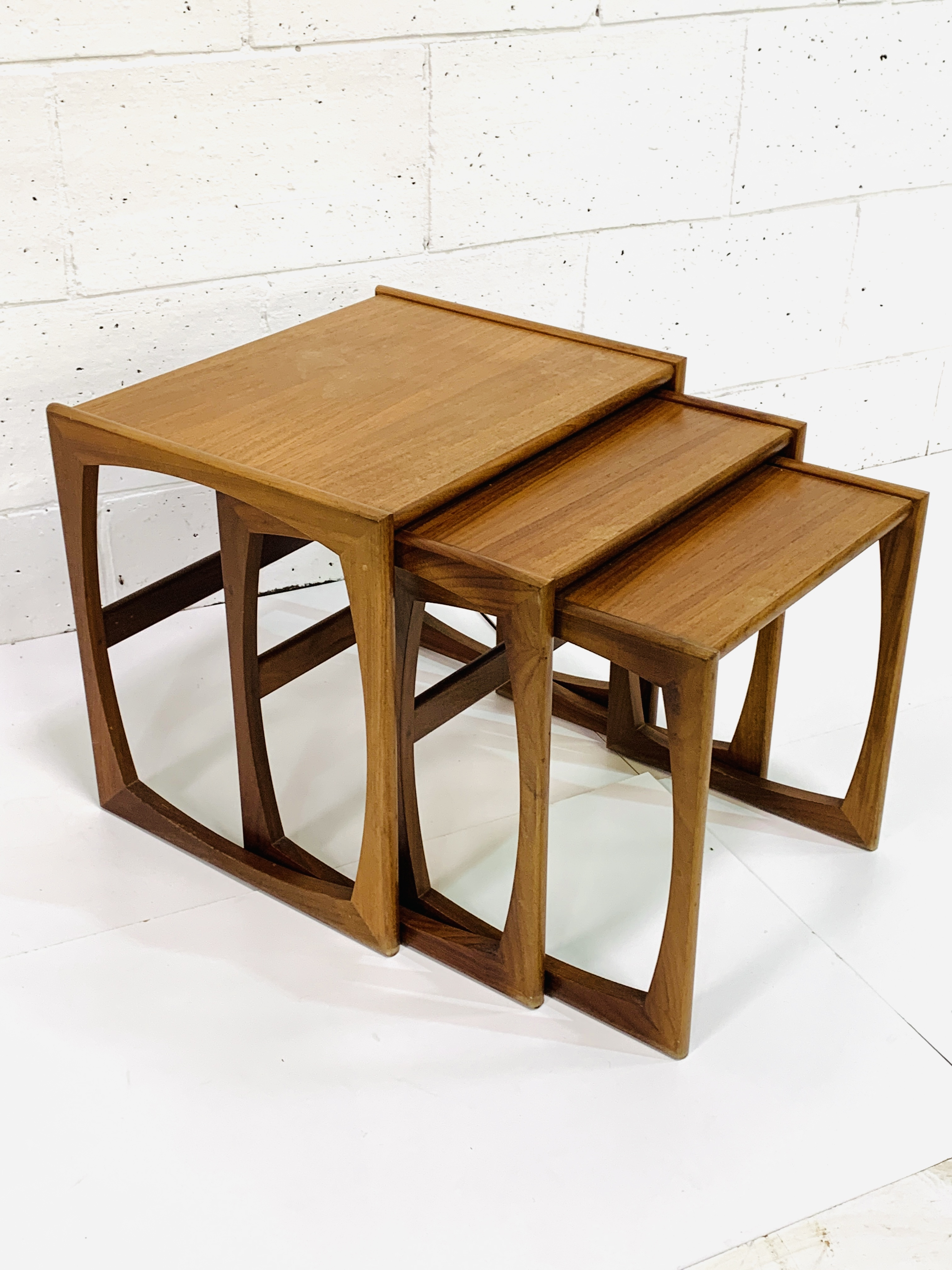 Nest of three teak tables by G-Plan - Image 2 of 3