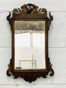Small Chippendale style wall mirror