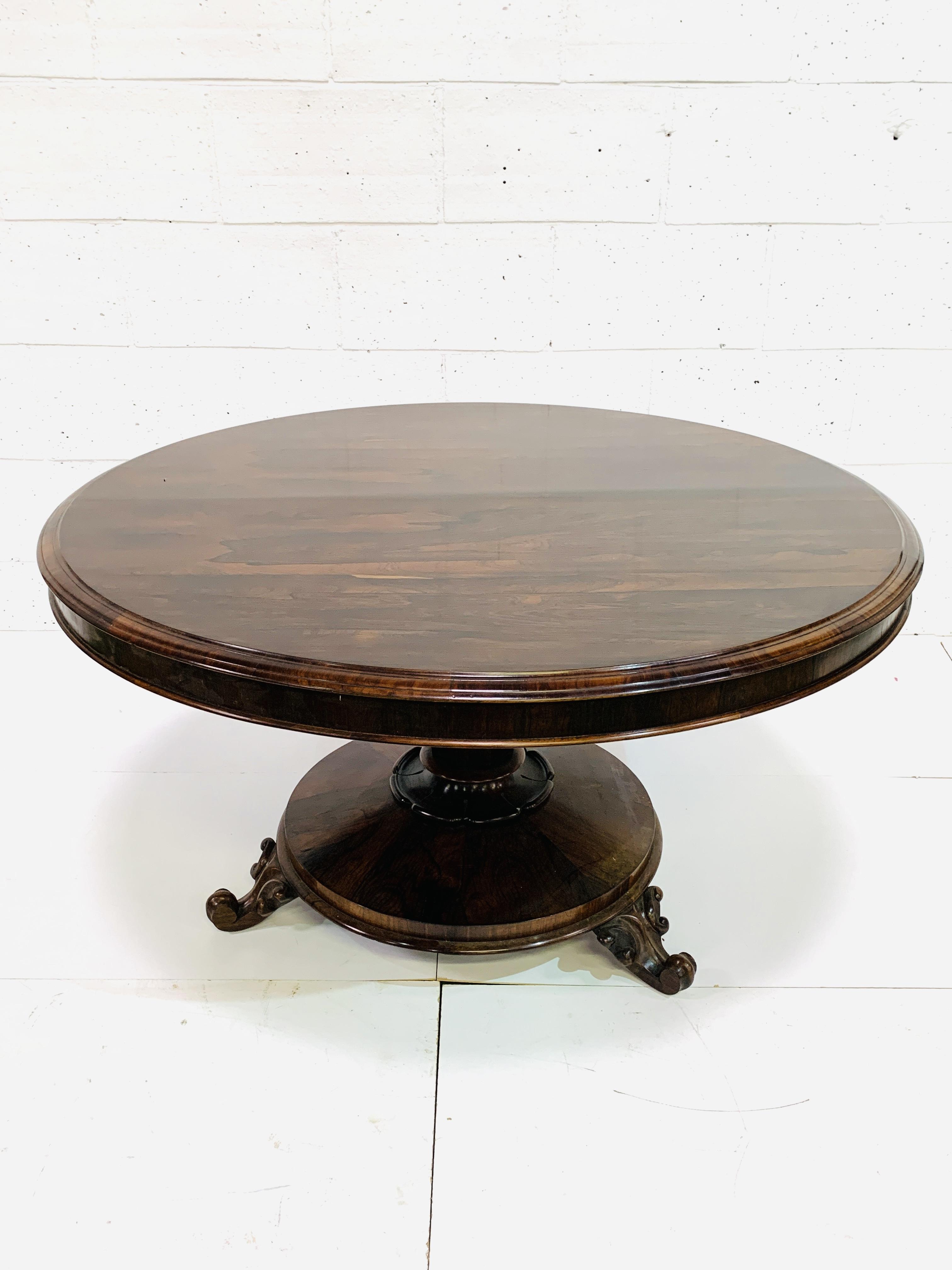 Victorian circular Rosewood tilt top table
