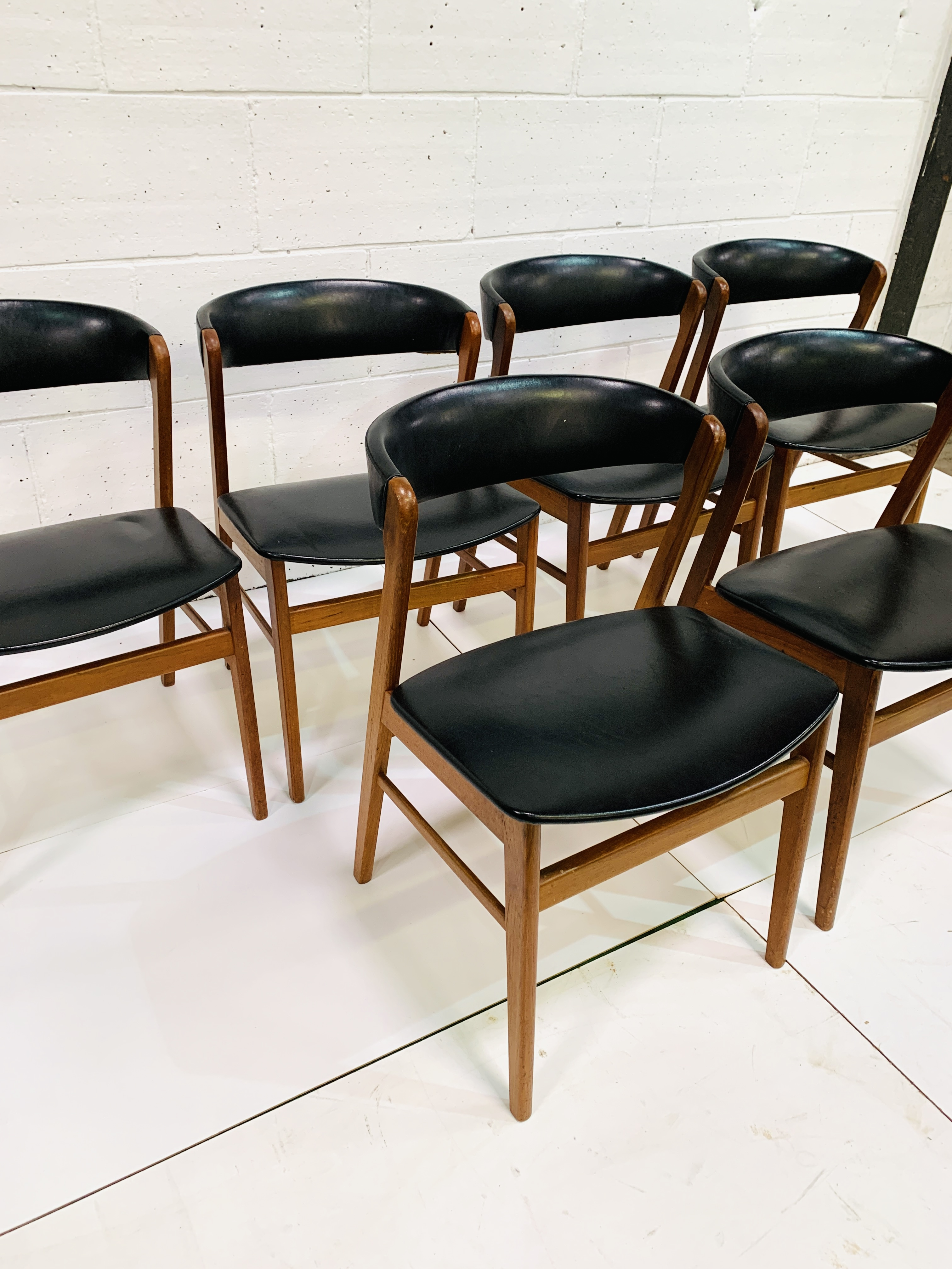 Six 1960's teak framed chairs - Image 2 of 7
