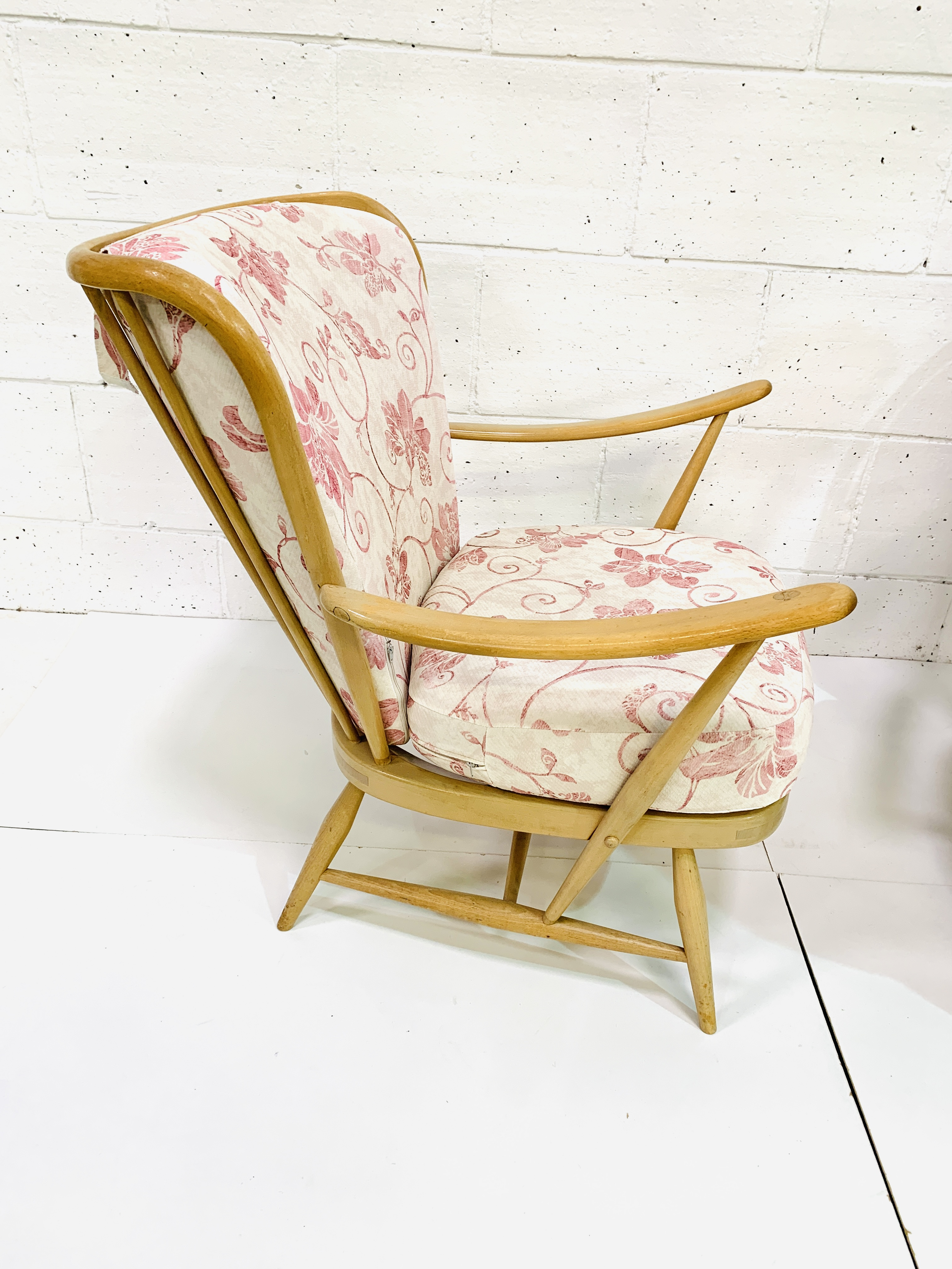 Pair of Ercol rail back armchairs - Image 4 of 4