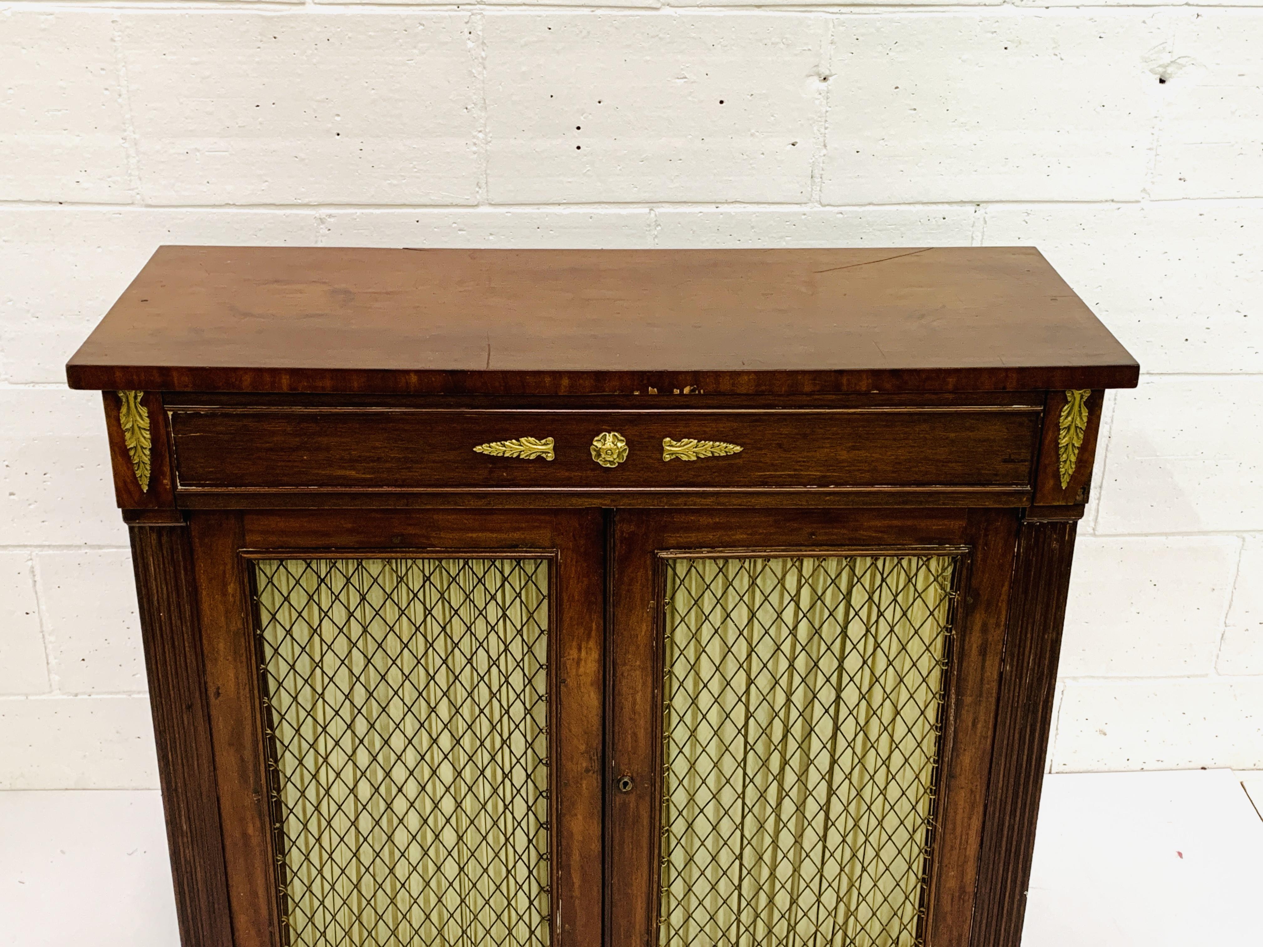 19th Century brass mounted mahogany chiffonier - Image 2 of 4