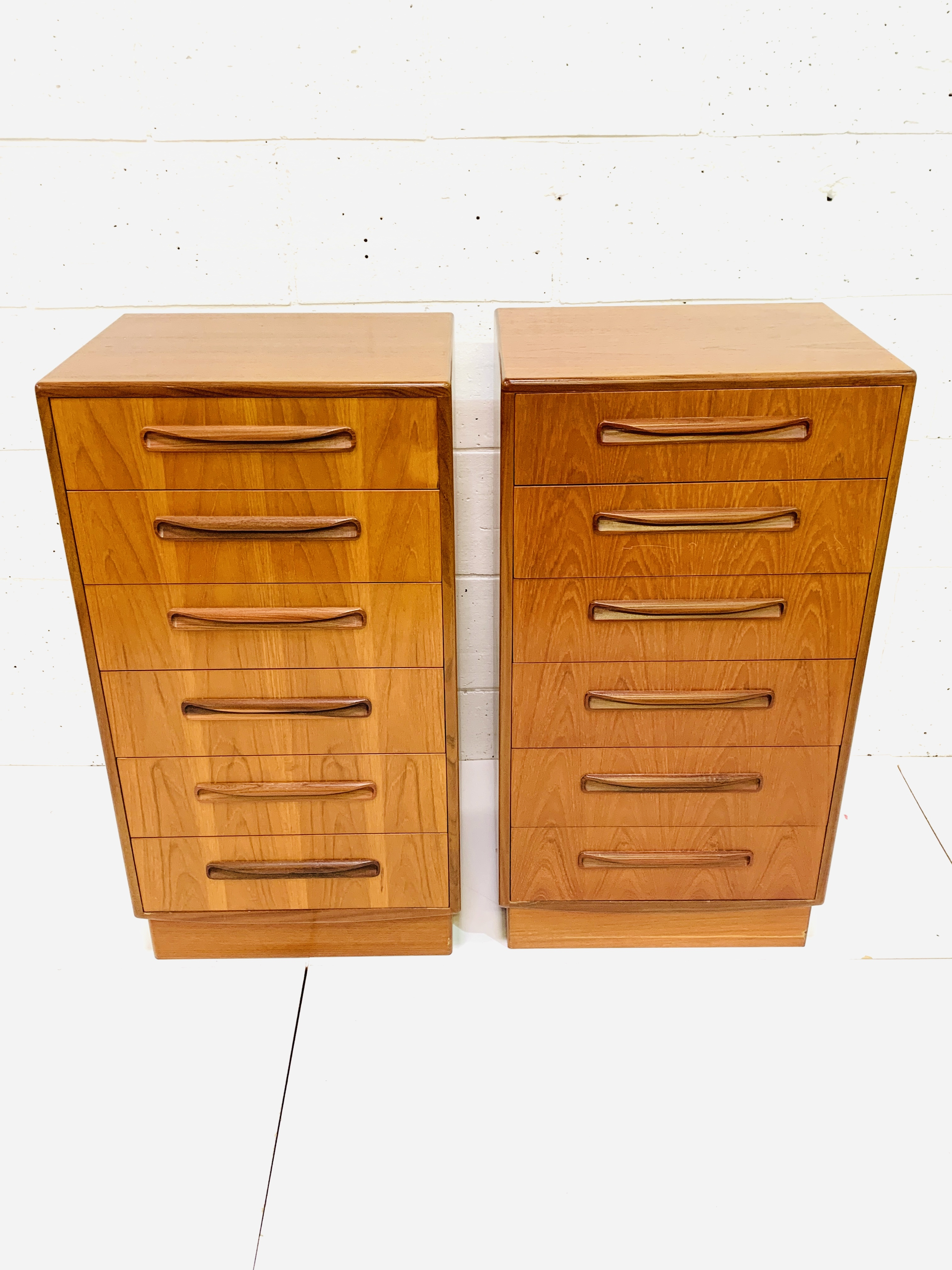 Two G-plan chests of six drawers - Image 3 of 6