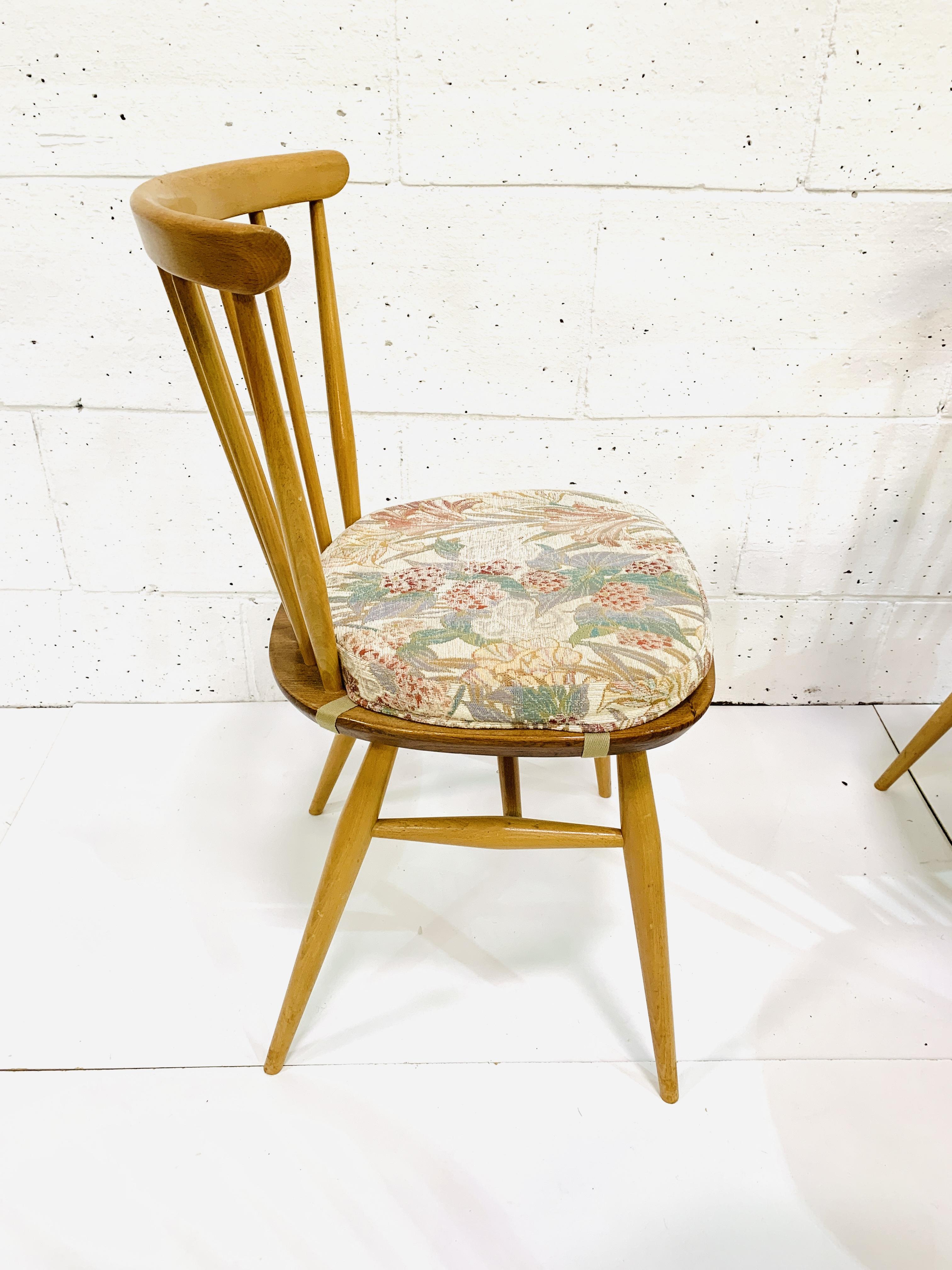Six Ercol railback chairs - Image 3 of 3