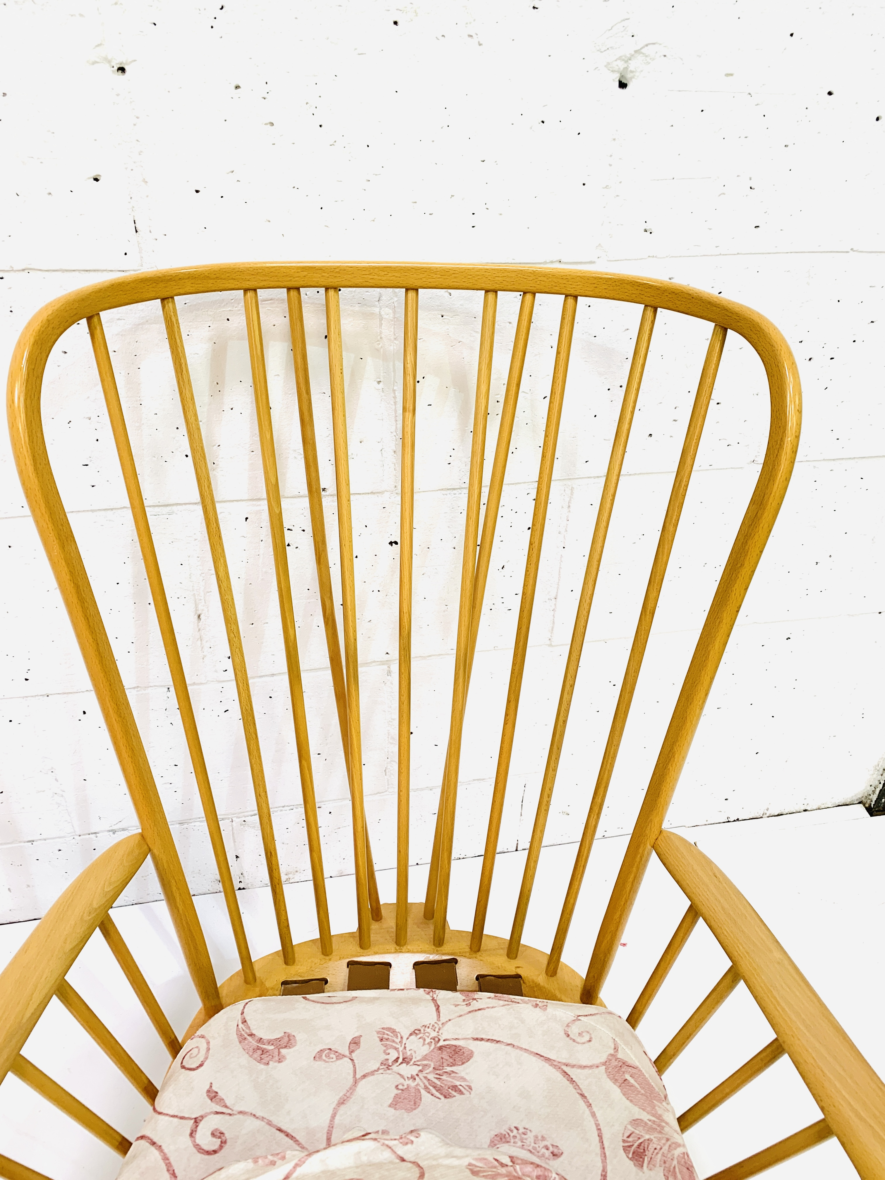 Pair of Ercol high rail back armchairs - Image 4 of 4