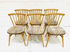 Six Ercol railback chairs