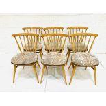 Six Ercol railback chairs