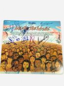 "Signed, ""We are the world"" 12 inch single"