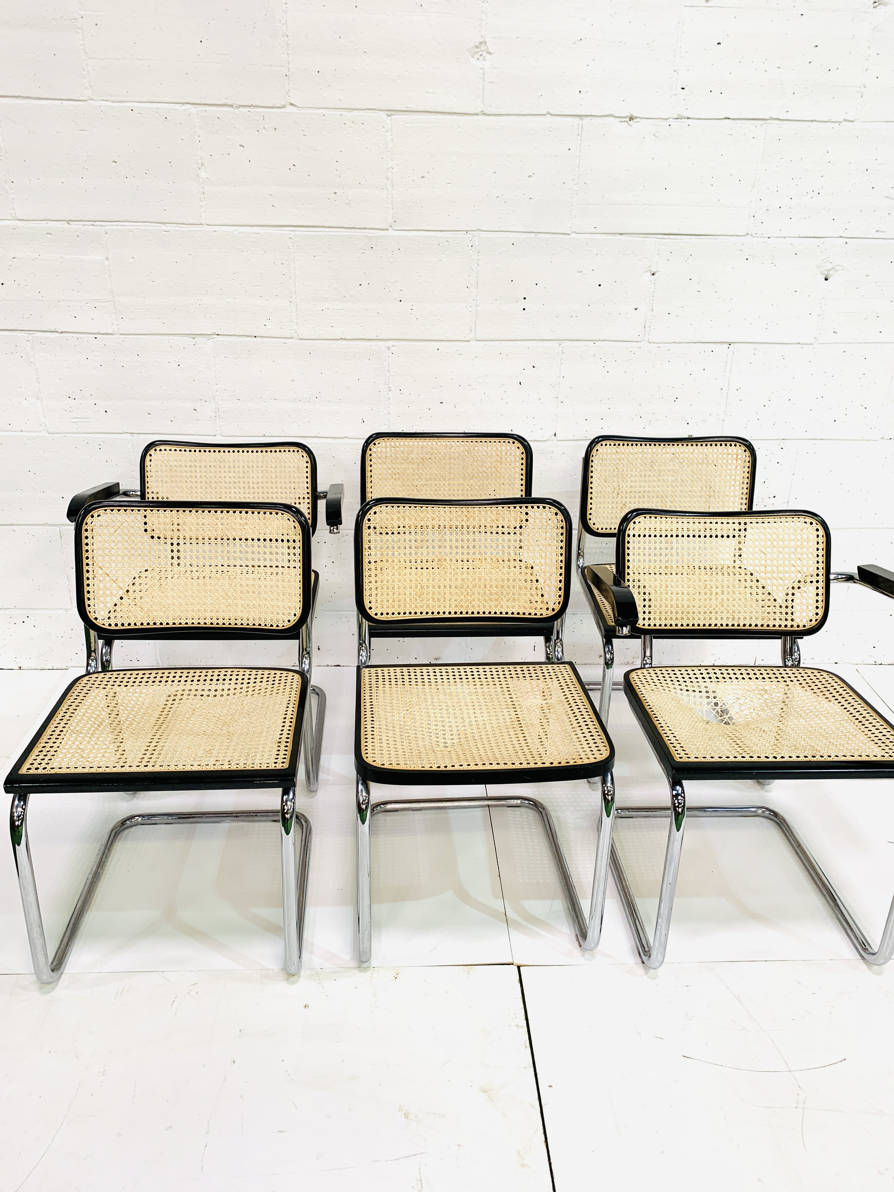 Group of six Italian chrome framed chairs - Image 6 of 6