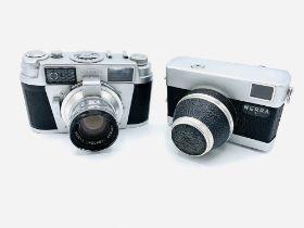Leidolf, Wetzlar, Lordomat SLE camera, together with a Werra 1 camera
