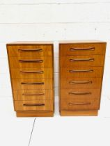 Two G-plan chests of six drawers