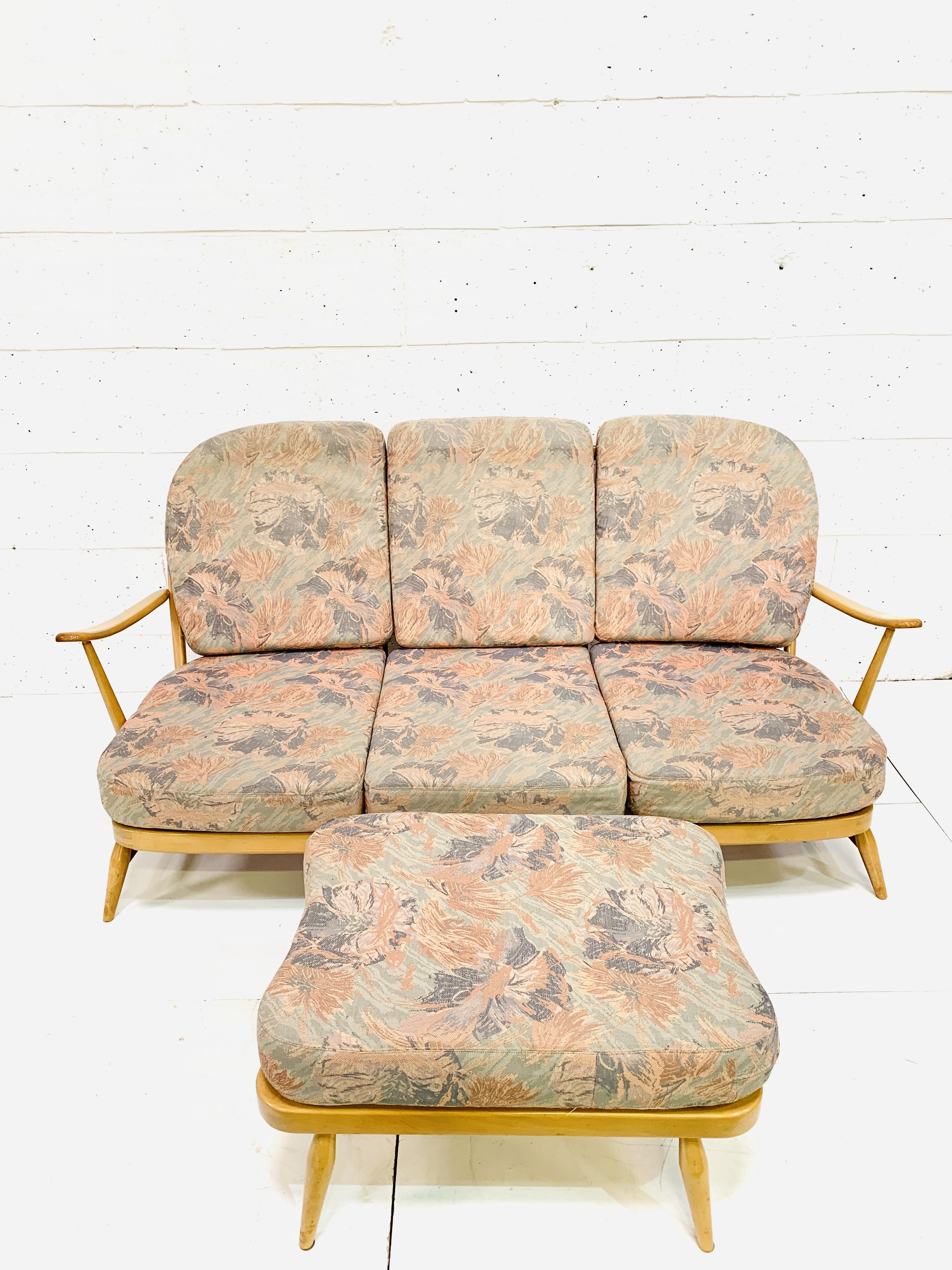 Ercol three seat sofa - Image 2 of 5