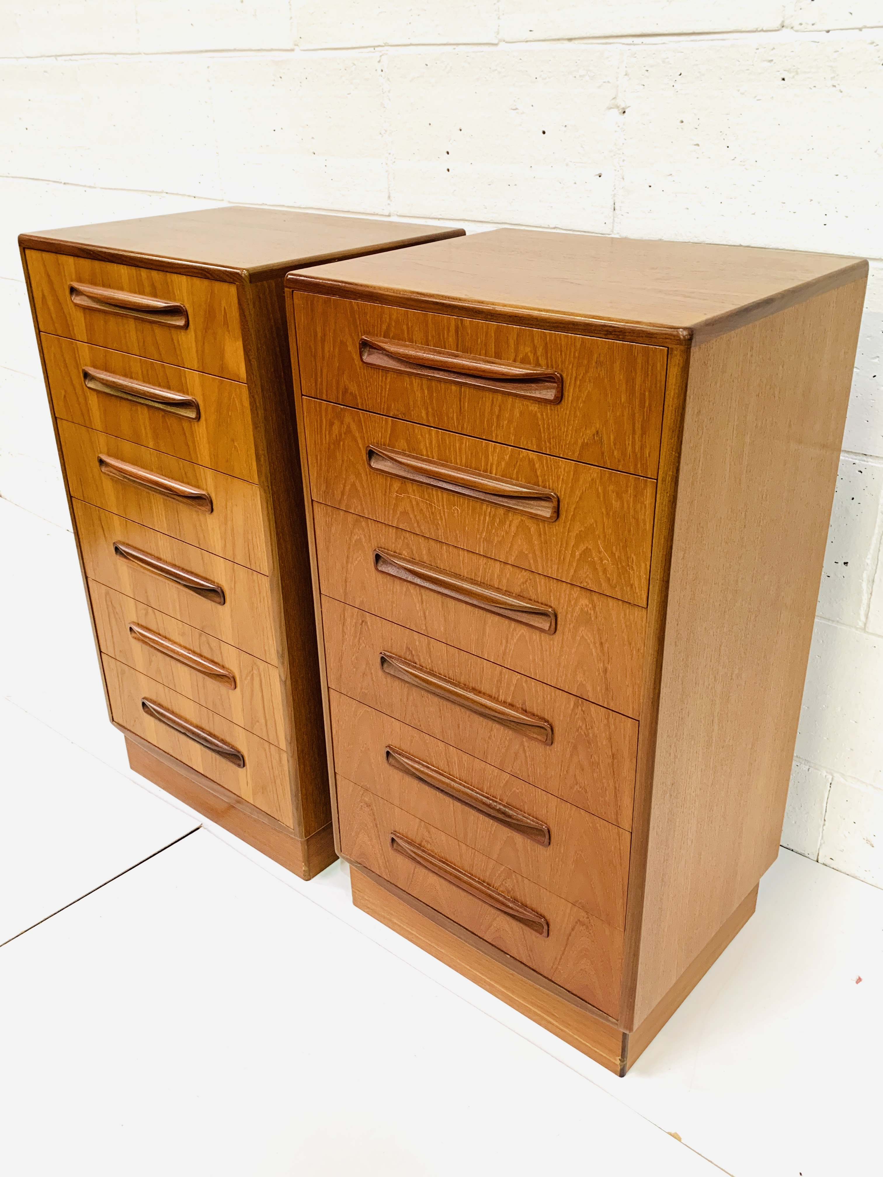 Two G-plan chests of six drawers - Image 4 of 6