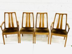 Group of four Nathan Furniture chairs