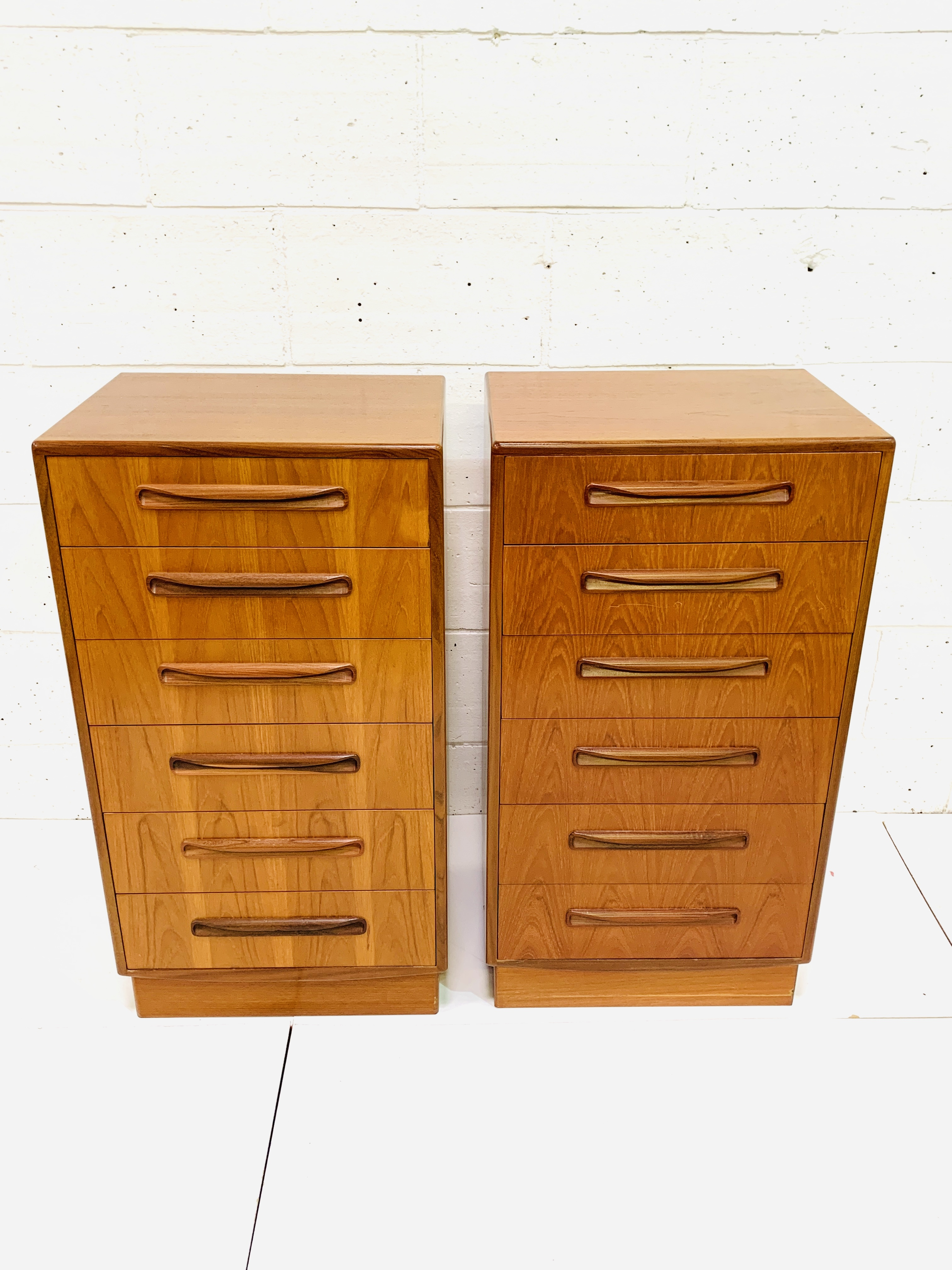 Two G-plan chests of six drawers - Image 2 of 6