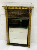 Georgian gilt framed wall mirror