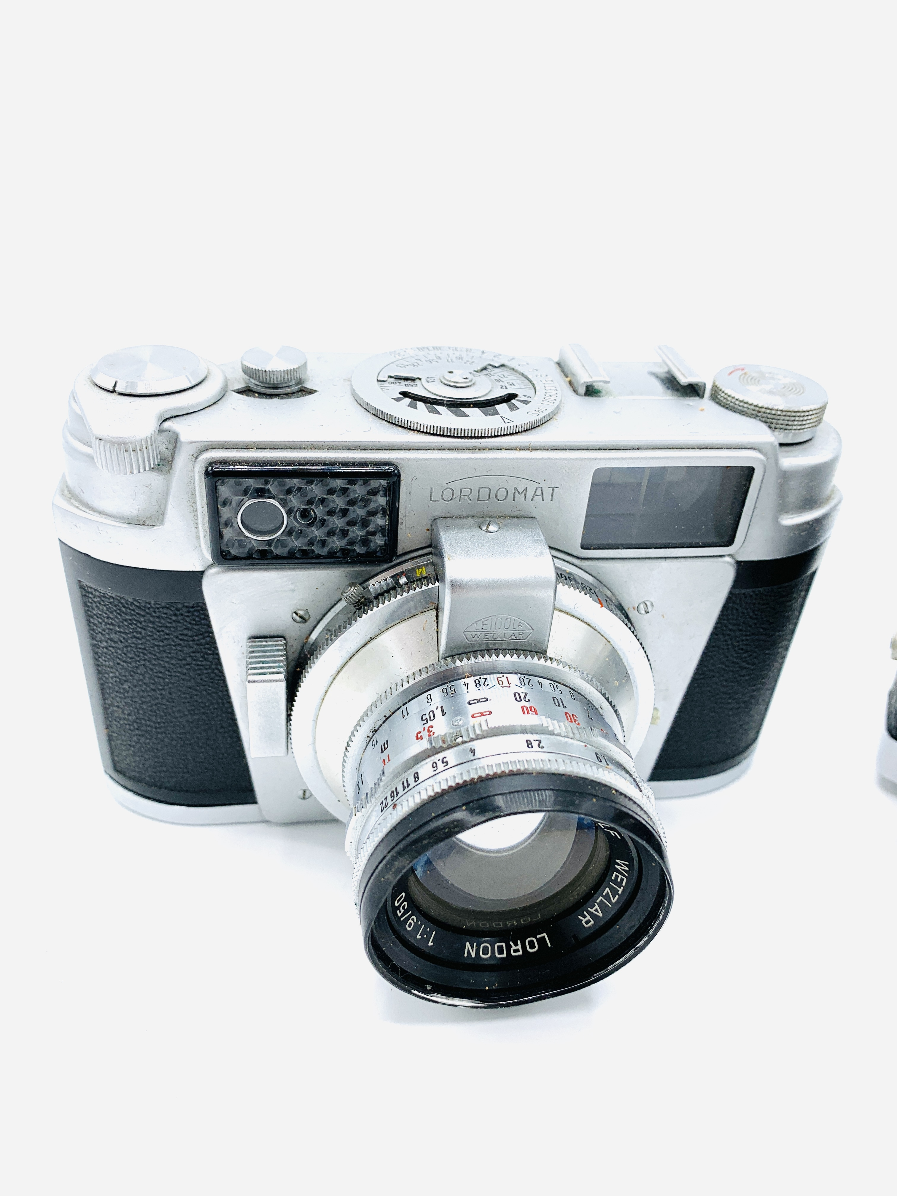 Leidolf, Wetzlar, Lordomat SLE camera, together with a Werra 1 camera - Image 2 of 4