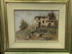Two framed oils on canvas signed G Borelli