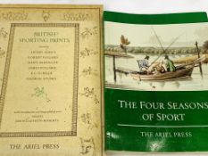British Sporting Prints in folio slip case published by Ariel Press in 1955, together with 4 books.
