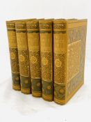 Casquet of Literature, 5 volumes in Art Nouveau cloth bindings