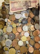 Large quantity of mainly European coins.