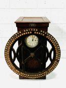 """International"" Dey-type oak cased time register machine by International Business Machines"