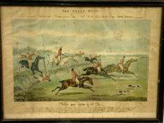 Set of eight framed and glazed 19th Century prints of the Quorn Hunt by Ackerman, drawn by Alken
