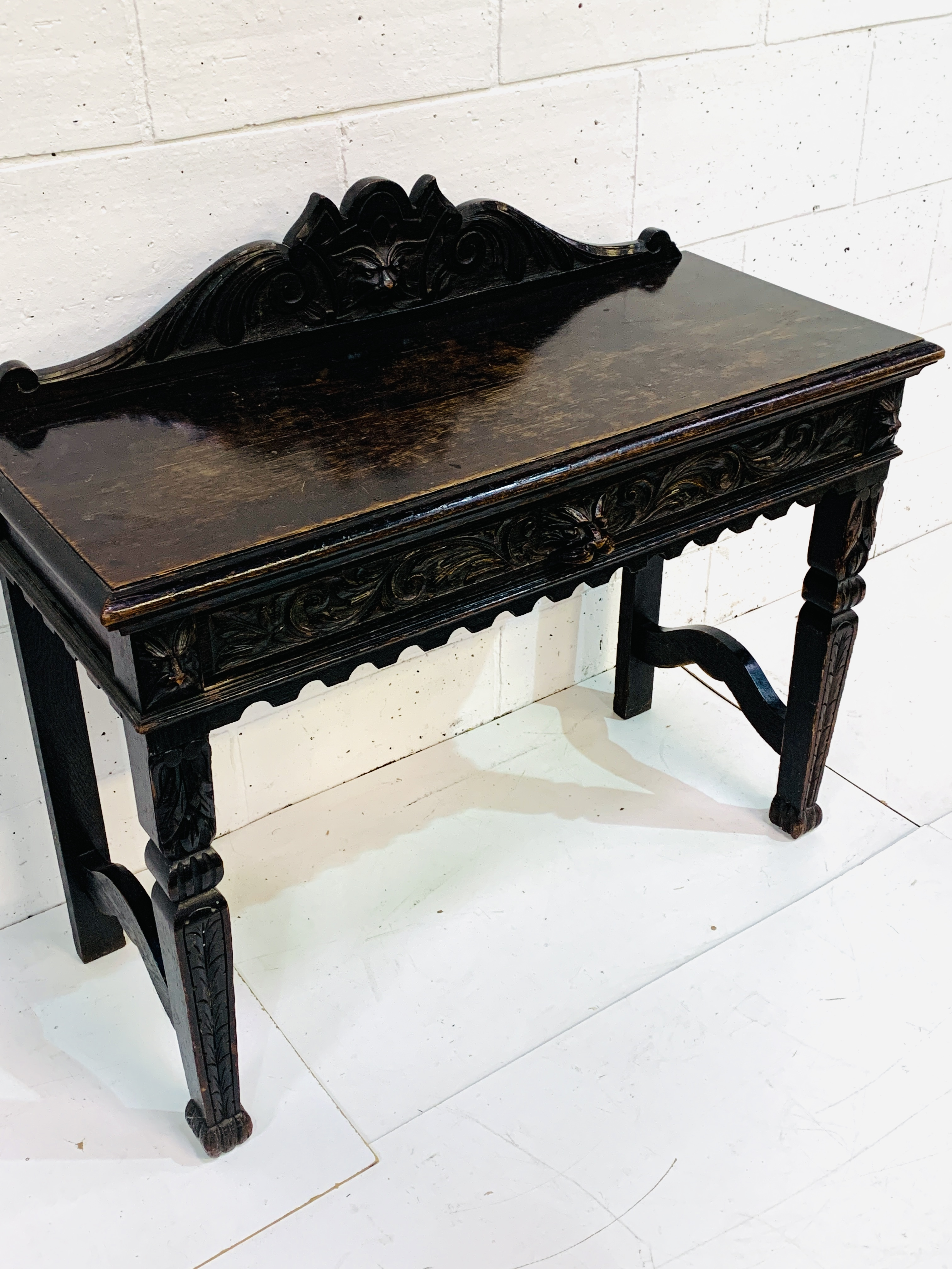 17th century style oak hall table - Image 5 of 6