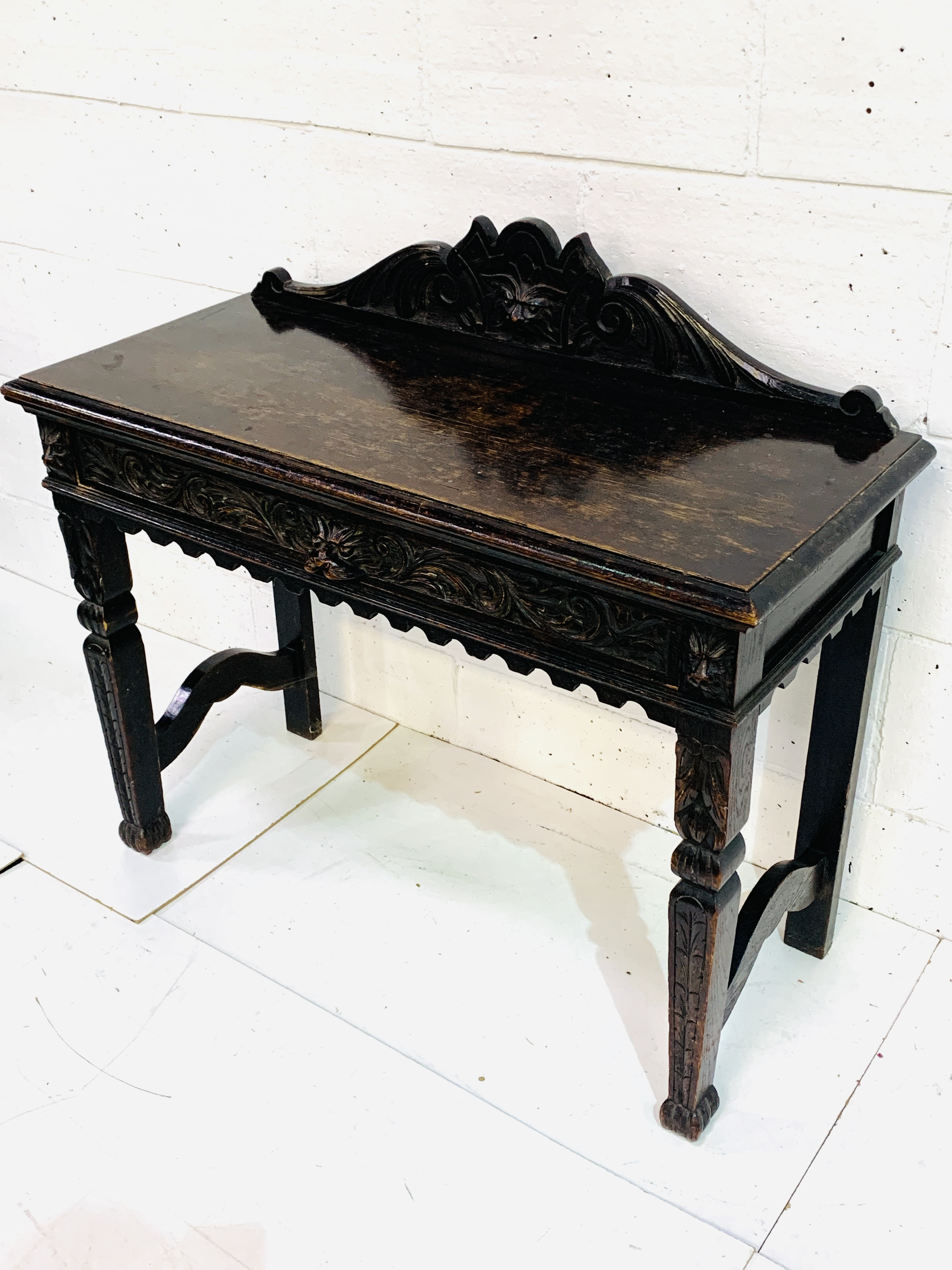 17th century style oak hall table - Image 4 of 6