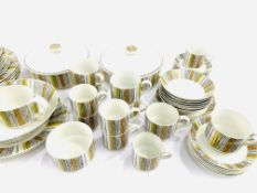 65 pieces of 1960's Midwinter 'Sienna' by Jessie Tait porcelain dinner, tea and coffee ware