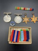 Four WWII medals