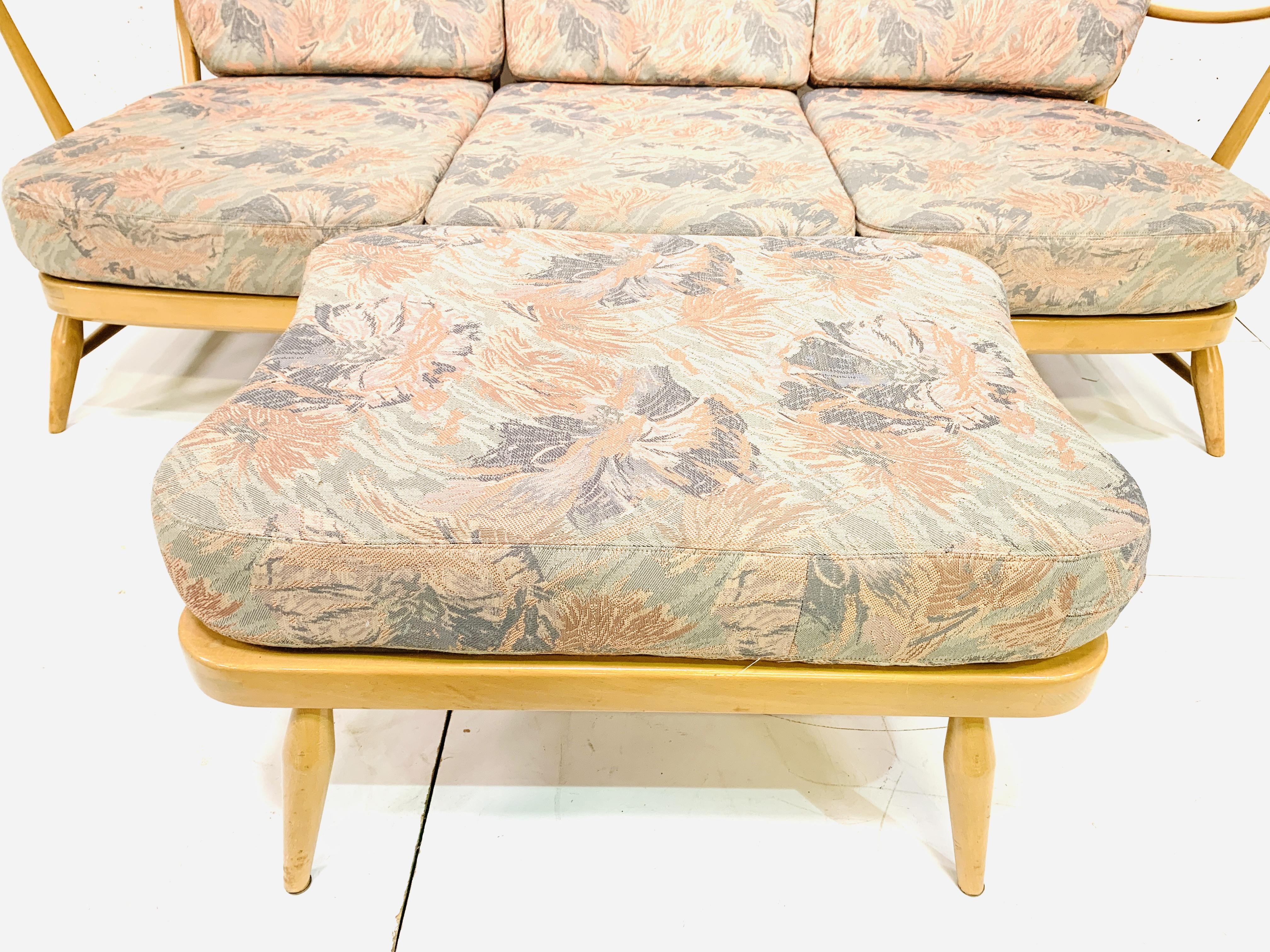 Ercol three seat sofa - Image 4 of 5