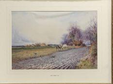 Henry John Sylvester Stannard RBA FRSA (1870-1951), watercolour of ploughing