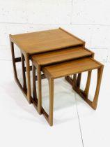 Nest of three teak tables by G-Plan