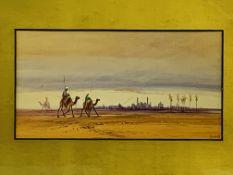 Gilt framed and glazed watercolour signed D H Pinder