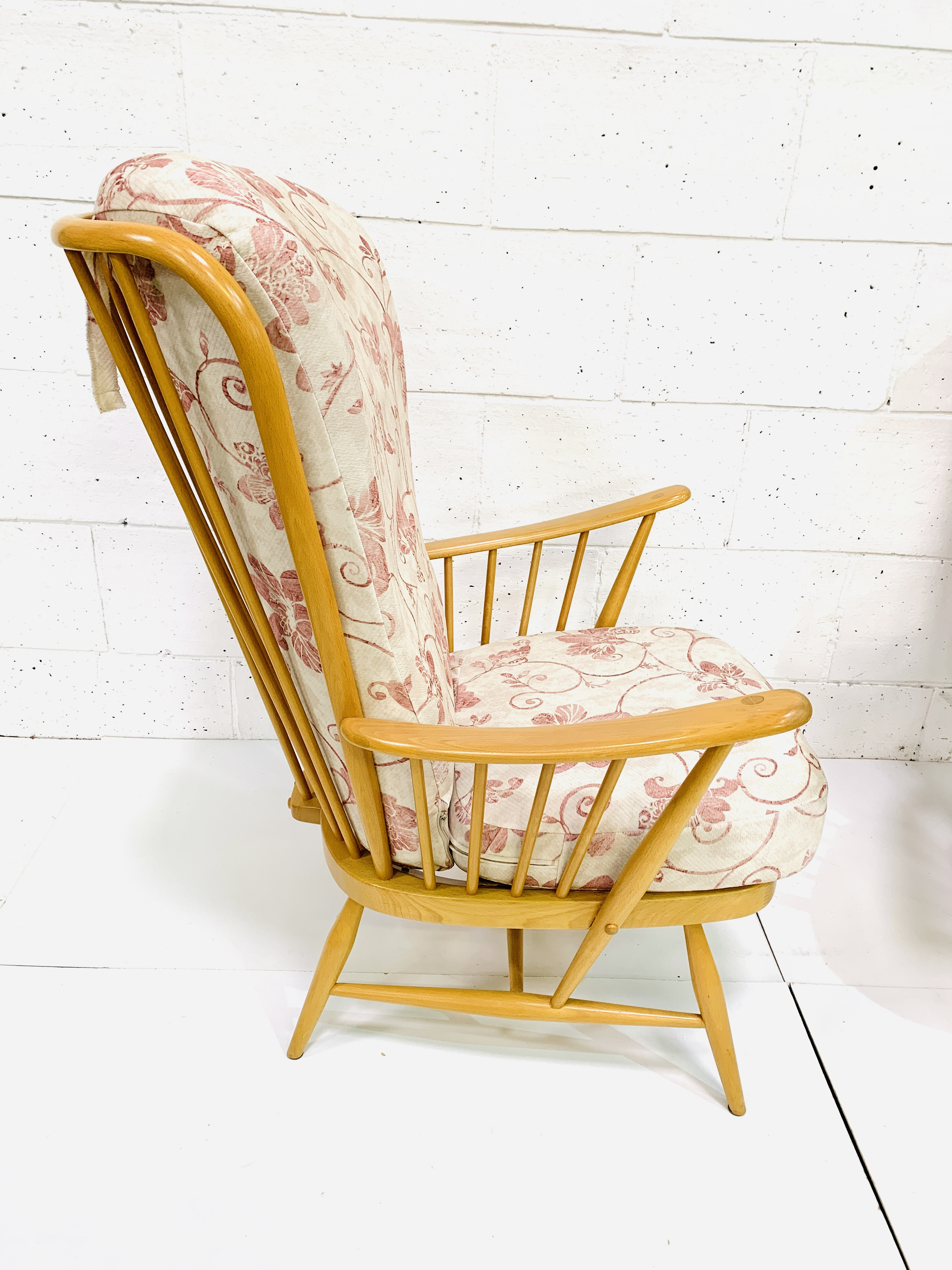 Pair of Ercol high rail back armchairs - Image 3 of 4