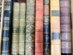 Eight quarto volumes with decorative bindings