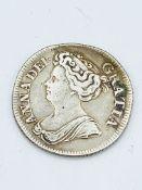 Queen Anne Silver Half Crown 1714