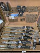 Kaiserbach knife set, 24 pieces, in briefcase