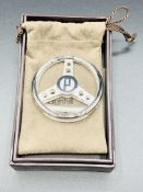 New Dunhill money clip in the form of a steering wheel, marked 925