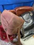 Seven various handbags