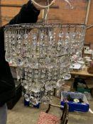 White metal chandelier ceiling light