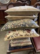 Eight various scatter cushions
