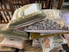 Ten various scatter cushions