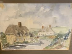 Two framed and glazed watercolours by Mandy Newman, 1978.
